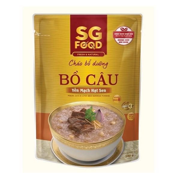 Cháo Tươi Sài Gòn Food Bồ Câu Yến Mạch Hạt Sen 240g