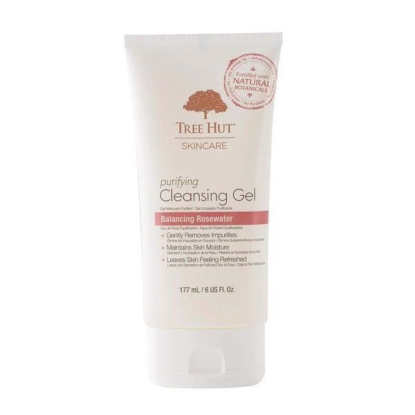 Gel Rửa Mặt Tree Hut Skincare Purifying Cleansing Gel Balancing Rosewater 177ml