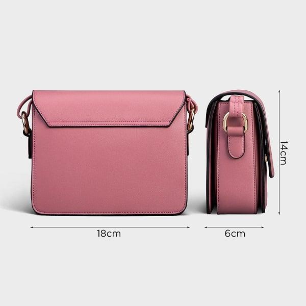 Hình ảnh Túi Đeo Chéo Thời Trang Yuumy Màu Hồng Ruốc YN90HR (Store 5703)