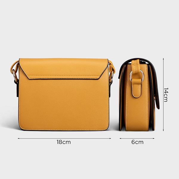 Hình ảnh Túi Đeo Chéo Thời Trang Yuumy Màu Vàng YN90V (Store 5703)