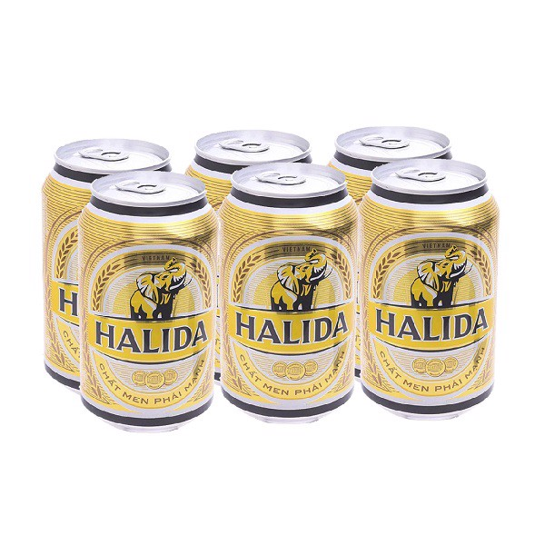 Lốc 6 Lon Bia Halida 330ml