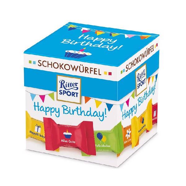 Kẹo Ritter Sport Schokowurfel Happy Birthday 176g (Tết)
