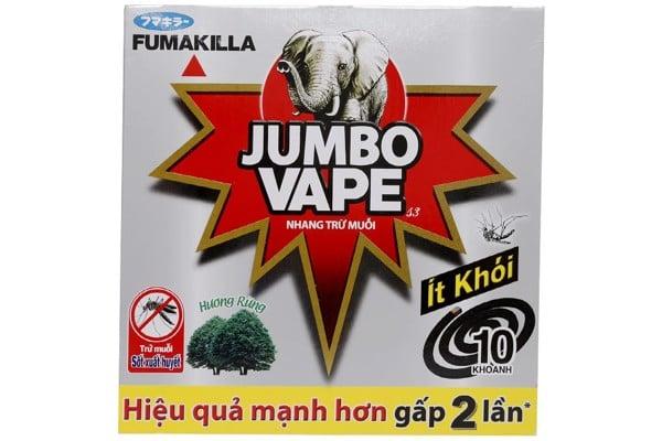 Nhang Muỗi Jumbo Vape S3 Hương Rừng Hộp 10 Khoanh