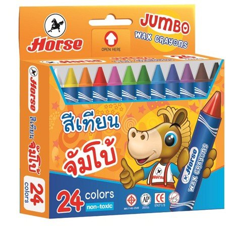 HORSE CHÌ SÁP H 24 JUMBO | HORSE COLORED PENCIL H24 JUMBO