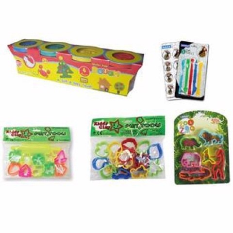 BỘT NẶN BÁNH KEM DOUGH 4 MÀU 400G DO-400-4 (SP) | The Kiddy Clay 4-color DOUGH plastic clay 520G