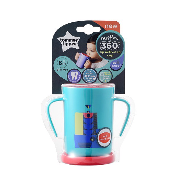 Ly Tập Uống Tommee Trainer 200ml 6m+ Xanh Cổ Vịt