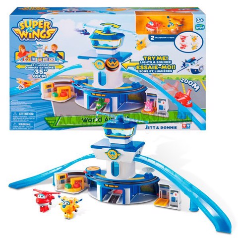 S.WING YW710830 TRẠM KIỂM SOÁT SÂN BAY | Super wings Jett and Donnie World Airport playset YW710830