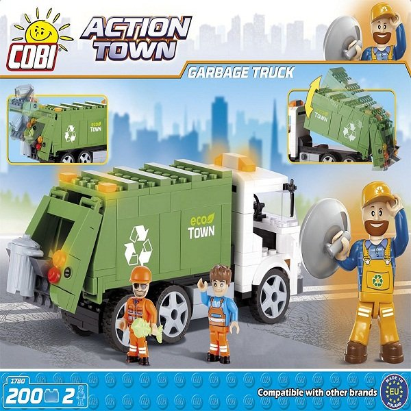 TLM COBI 1780 LẮP RÁP XE VỆ SINH | Cobi - Action Town 1780 - Garbage Truck