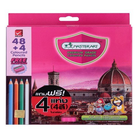 BÚT CHÌ DÀI 48 MÀU MASTERART F48 | MASTERART LONG COLOR PENCILS F48 (48 colors)