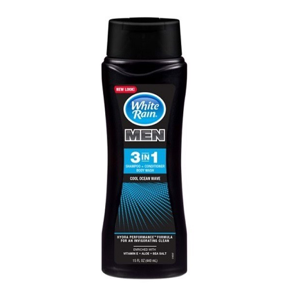 Sữa Tắm Gội White Rain For Men 3-In-1 Cool Ocean Wave 443ml