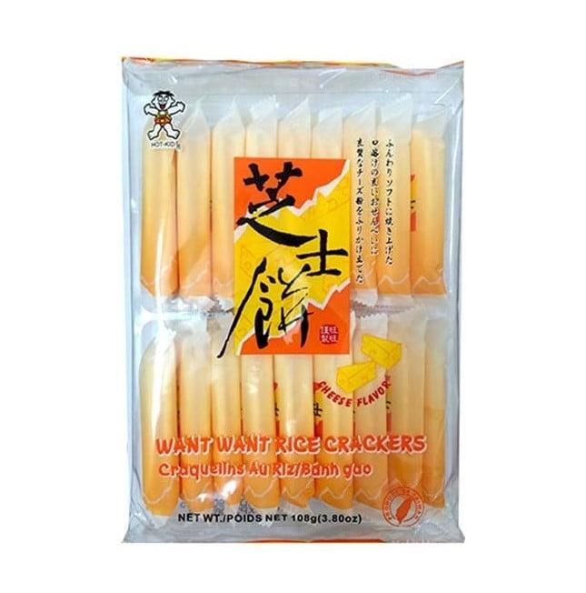 Bánh Quy Gạo Want Want Vị Phô Mai - 108g