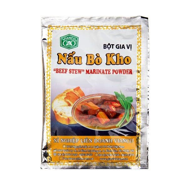 Bột Gia Vị Nấu Bò Kho Vianco - Gói 18g