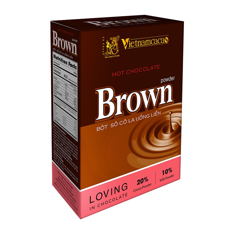 Bột Hot Chocolate Brown Hộp 300g