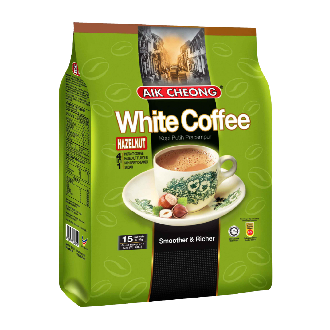 Cafe Aik Cheong White Coffee Hazenut 4in1 40g*15