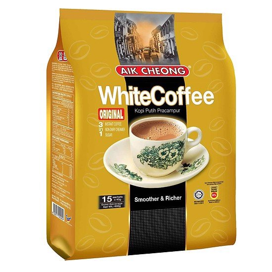 Cafe Aik Cheong White Original 40G*15 Gói