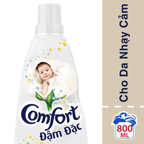 NƯỚC XẢ COMFORT ĐẬM ĐẶC TRẮNG 800ML | Comfort Ultra Pure Concentrated Fabric Conditioner bottle 800ml