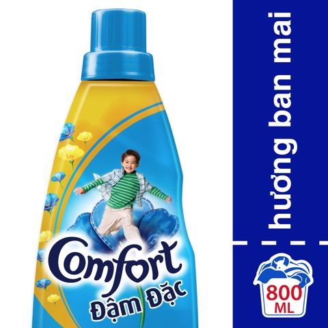 NUOC XA COMFORT DD XANH 800ML | Comfort Morning Fresh Concentrated Fabric Conditioner Bottle 800ml
