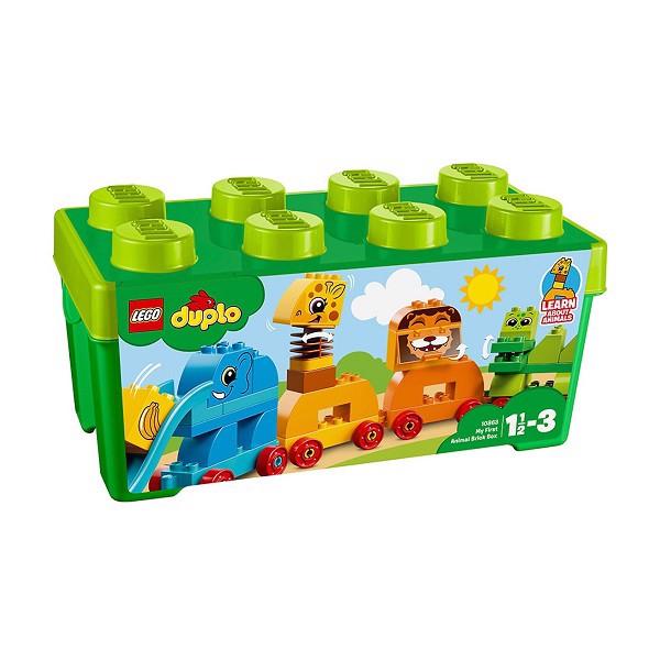 Bộ Lắp Ráp Lego Duplo - Hộp Lắp Ráp Động Vật Đầu Tiên Của Bé 10863