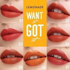 Son Kem Lì Lemonade Want It Got It #07 Đỏ Nâu Đất 5g