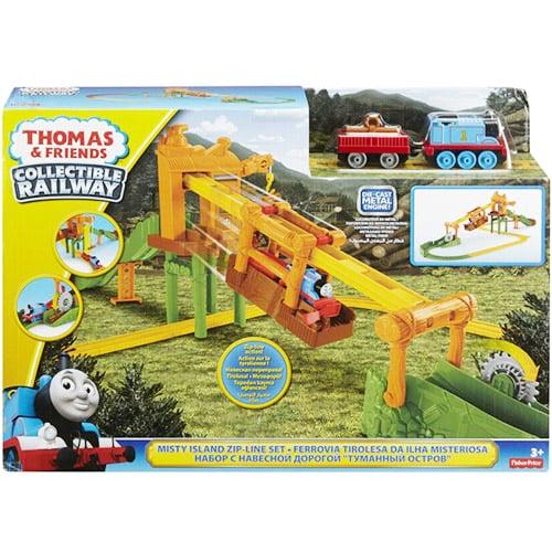 Thomas & Friends Bộ đường ray vận chuyện ròng rọc DGC12 | Thomas & Friends™ Collectible Railway Misty Island Zipline DGC12
