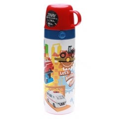 Bình Giữ Nhiệt Nắp Ly Skater 600ml Tomica 16   Thermal Flask SKATER 600ML TOMICA 16 ( Cup) [QC-Aeon]