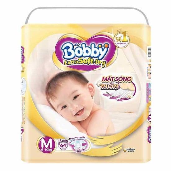 Tã Dán Extra Bobby Soft Dry M64