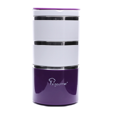 Hộp Cơm 3 Ngăn LaGourmet Pack To Go 1,23L (Tím) |  Dining box-3 Drawers LaGourmet Pack To Go 1,23L (Purple)