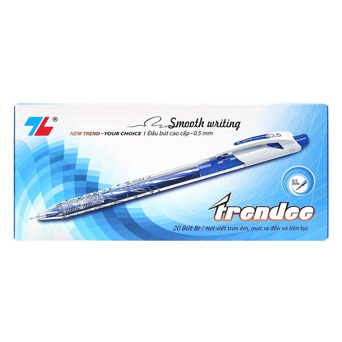 Hộp 20 Bút Thiên Long TL-079 - Xanh