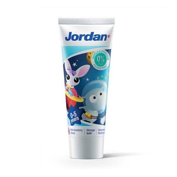 Kem Đánh Răng Trẻ Em Jordan 0-5 Tuổi Hương Dâu 75g