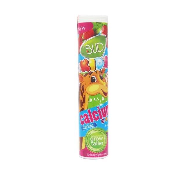 Kẹo Bud Kids Calcium Hương Dâu (10 Viên x 2g)
