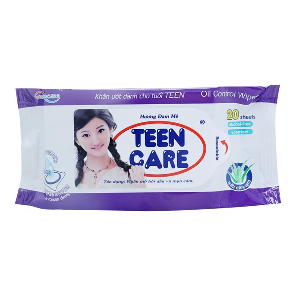 Khăn Ướt Teen Care 20+4 Tờ - Tím