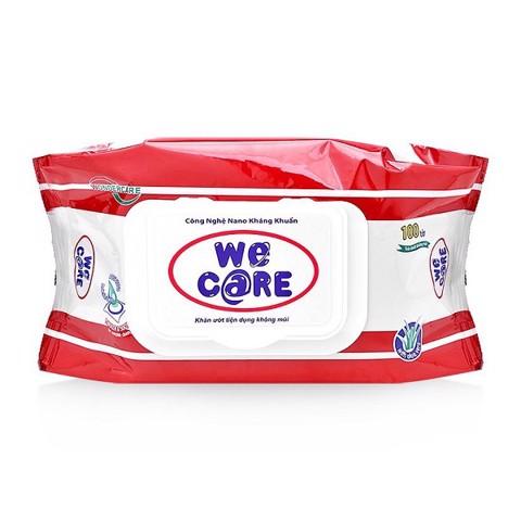 Khăn Ướt We Care 100 Miếng Không Mùi [QC-Aeon]