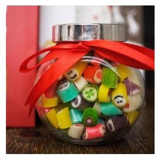 Lọ Thủy Tinh Kẹo Rock Candy 120g