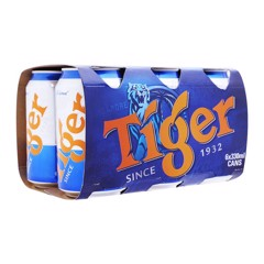 Lốc 6 Lon Bia Tiger 330ml