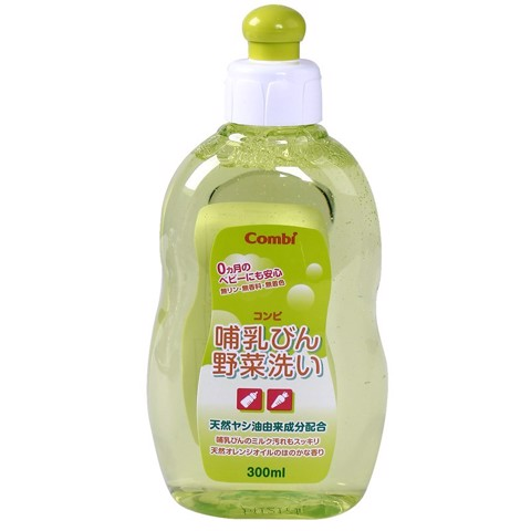 Combi Dung Dịch Rửa Bình Sữa & Rau Quả 300Ml | Combi Detergent for Baby Bottles and Vegetables 300ml
