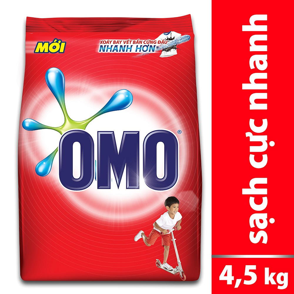 Bột Giặt Omo Đỏ 4.5kg | OMO WASHING POWDER DO 4.5KG