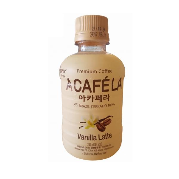 Cà Phê Sữa Acafela Vanilla Latte Binggrae - Chai 240ml (Nhập Khẩu Hàn Quốc)