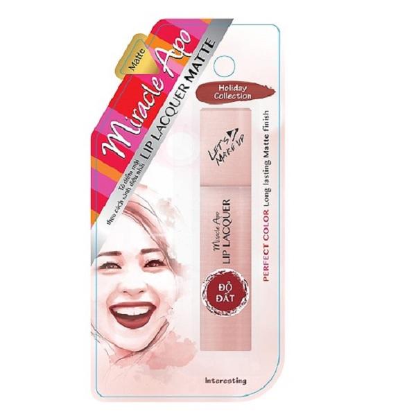 Son Kem lì Miracle Apo Lip Lacquer Matte Đỏ Ruby 3ml