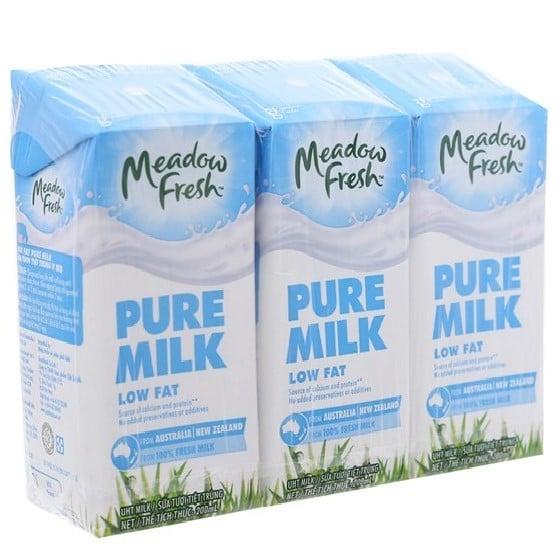 Sữa Tươi Tiệt Trùng Meadow Fresh 200ml - Lốc 3 Hộp