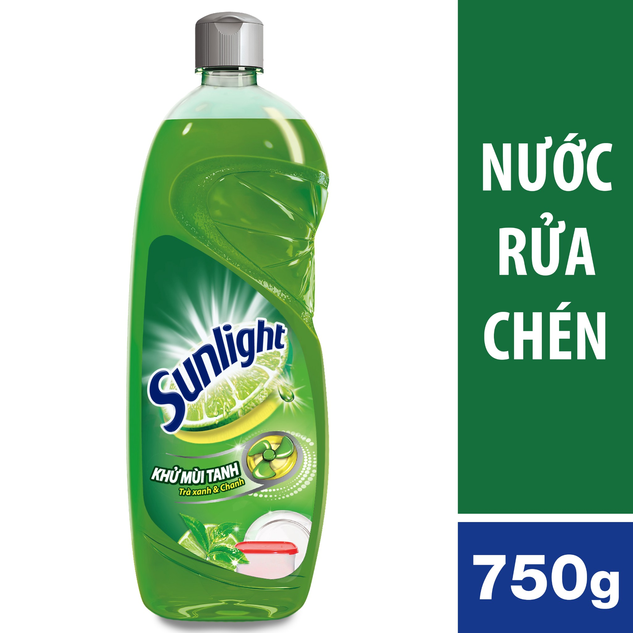 NƯỚC RỬA CHÉN SUNLIGHT TRA XANH 750G | Sunlight Dishwashing Gel Green Tea & Lime Bottle 750g
