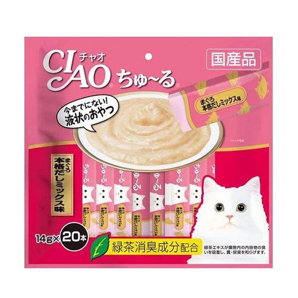 Súp Thưởng Ciao Dành Cho Mèo Cá Ngừ Nhật Bản SC-191 14g x 20