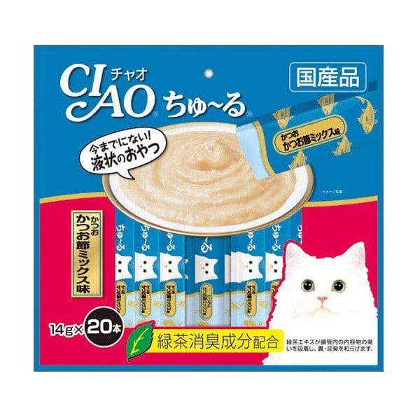 Súp Thưởng Ciao Dành Cho Mèo Cá Ngừ Nướng SC-130 14g x 20