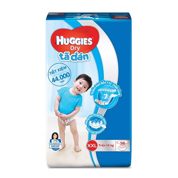 Tã Dán Huggies Dry Super Jumbo XXL56