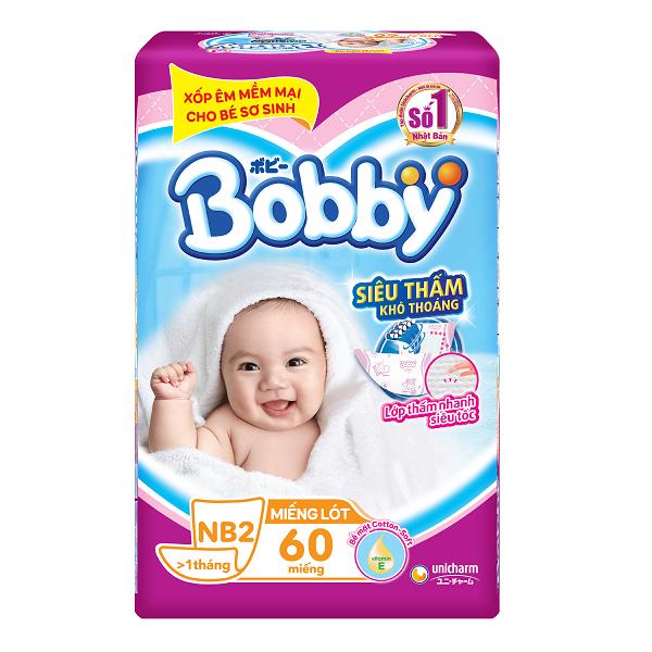Tã Giấy Bobby Newborn 2 - 60 Miếng
