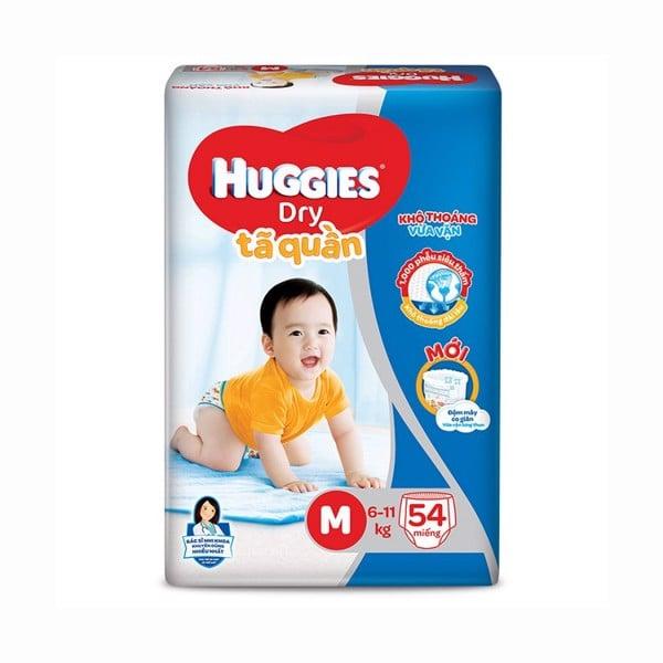 Tã Quần Huggies Dry M54 - Gói 54 Miếng