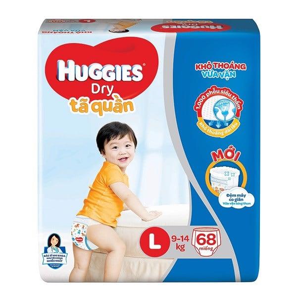 Tã Quần Huggies Dry Super Jumbo L68 (Hạn Sử Dụng: 12/11/2021)