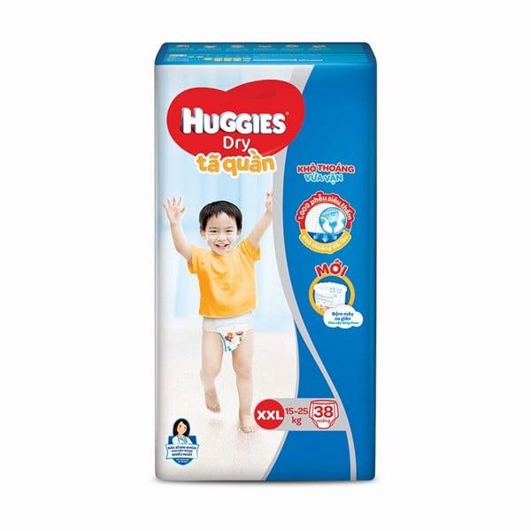 Tã Quần Huggies Dry XXL38 - Gói 38 Miếng