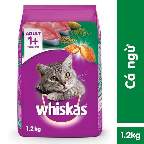Thức Ăn Cho Mèo Lớn Whiskas Vị Cá Ngừ Túi 1.2 Kg