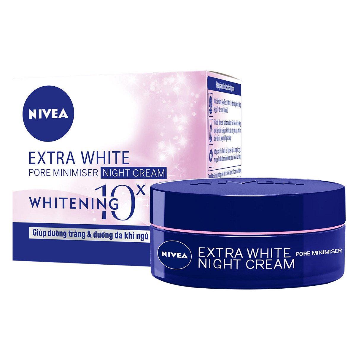 Kem dưỡng trắng da Nivea Extra White - Đêm 50ml