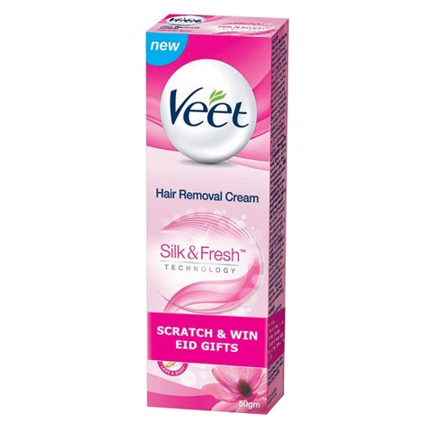 Kem Tẩy Lông Veet Silk & Fresh Cho Da Thường 50g [QC-Aeon]